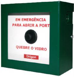 DRIGON - Botoeira de emergência em inox e vidro para sobrepor