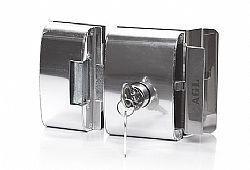 Fechadura vidro com 2 cilindros -  2 FOLHAS - AGL