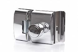Fechadura Porta de vidro 2FOLHAS vidro/vidro e abertura para DENTRO  - AGL