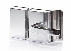 Fechadura Porta de vidro 2 FOLHAS vidro/vidro e abertura para FORA - AGL